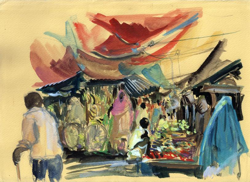 Le vieux marché à Stone Town