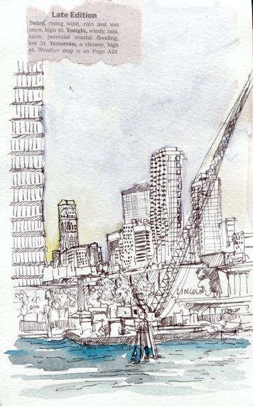 Avant la croisière, Manhattan