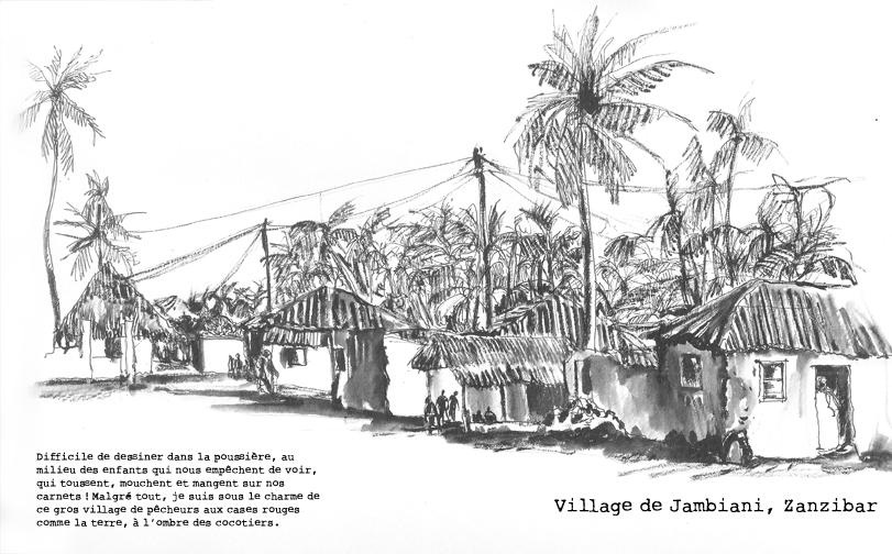 Le village de Jambiani, Zanzibar
