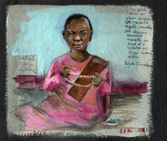 Petite nonne en méditation, Schwedagon