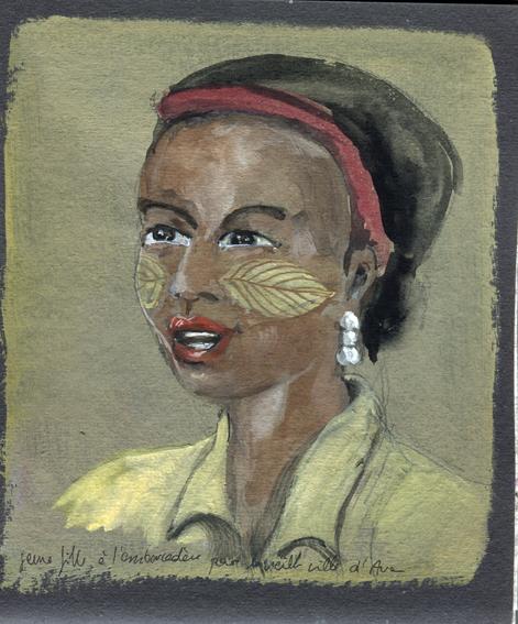 Jeune femme, Cité royale d'Awa