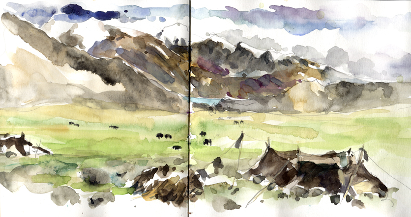 Campement nomade à Korzok, Tso Moriri, Ladakh