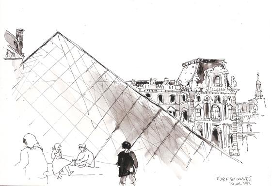 Musée du Louvre, Carnet de voyage à Paris