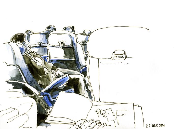En cabine, vol Paris-Istanbul Air France