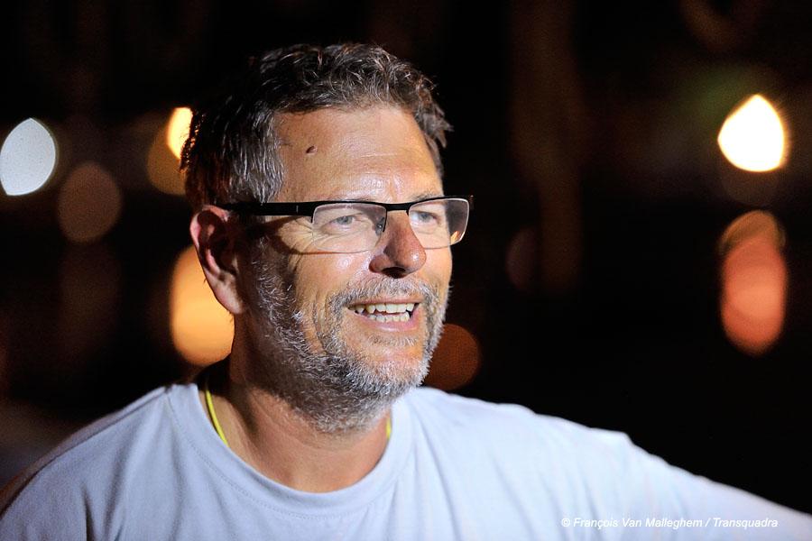 Laurent à l'arrivée, Transquadra 2015