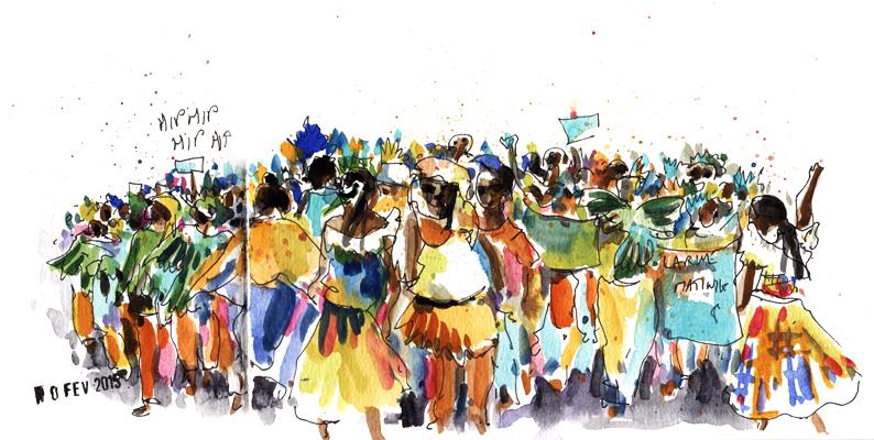 Carnaval des enfants à Rivière Pilote
