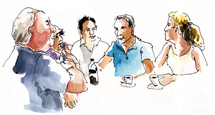 Café du matin à l'annexe