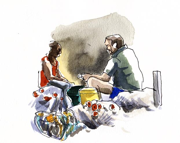 Pêcheurs à Grande Anse