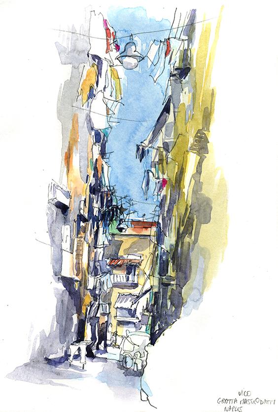 Carnet de voyage à Naples, Delphine Priollaud-Stoclet