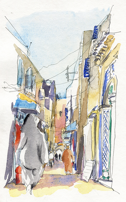 Essaouira, rue d'Irak, Carnet de voyage