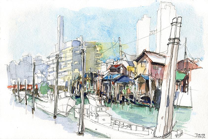Tsukuda-Carnet de voyage à Tokyo